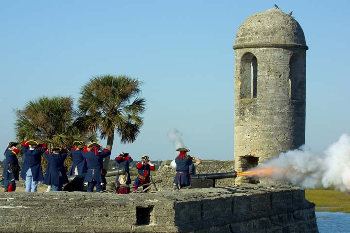 Things to do in St. Augustine Florida in 2020: Hear cannons fly at the Castillo de San Marcos