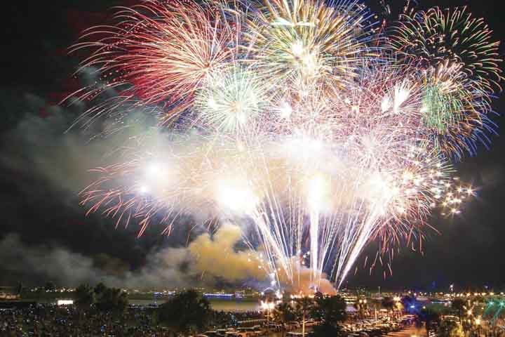 Things to do in St. Augustine Florida in 2020: See fireworks light up the sky over Matanzas Bay
