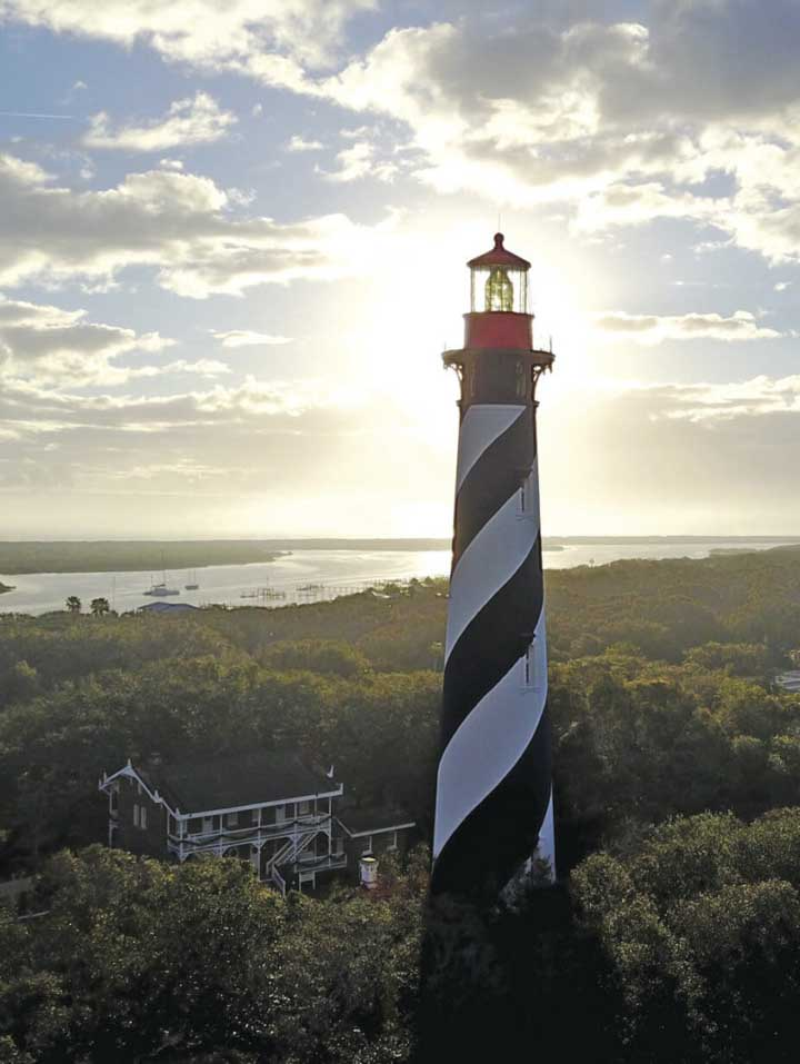 Climb 219 steps to the top of the St. Augustine Lighthouse