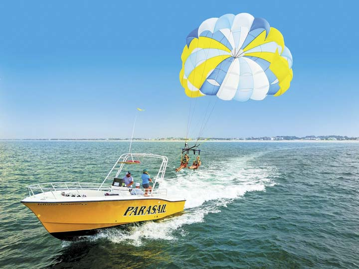 Things to do in St. Augustine Florida in 2020: Explore St. Augustine by air through parasailing