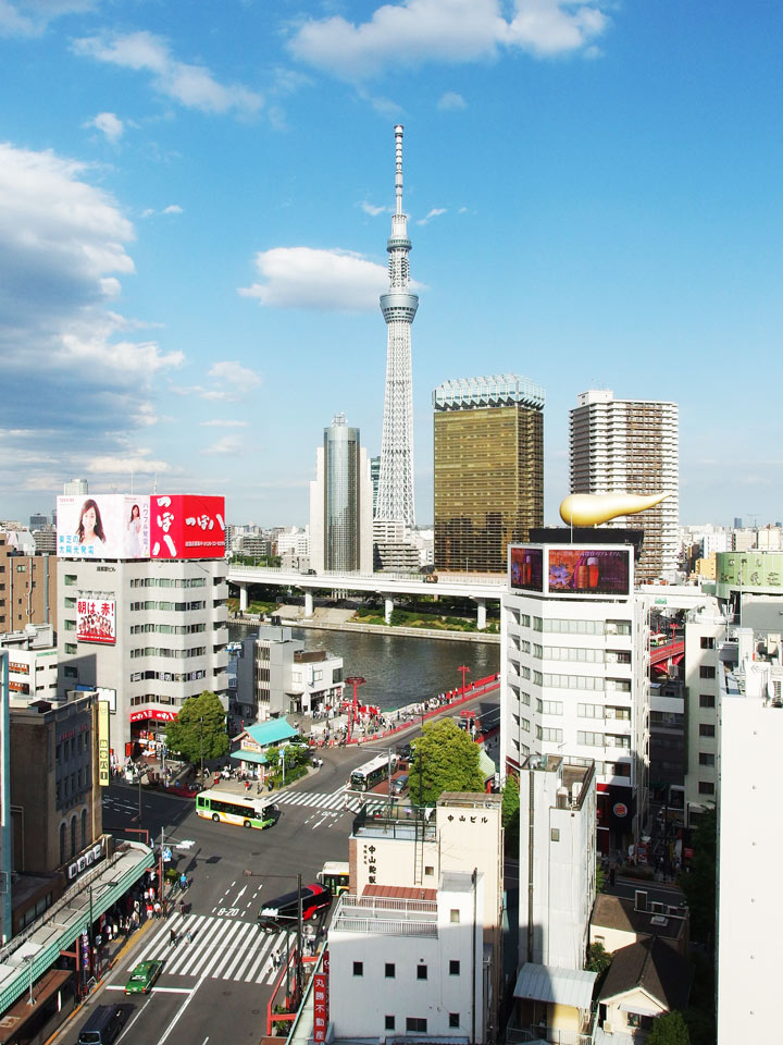 11 Best Places to View the Tokyo Skyline for Free: Asakusa Culture Information Center (Taito City)