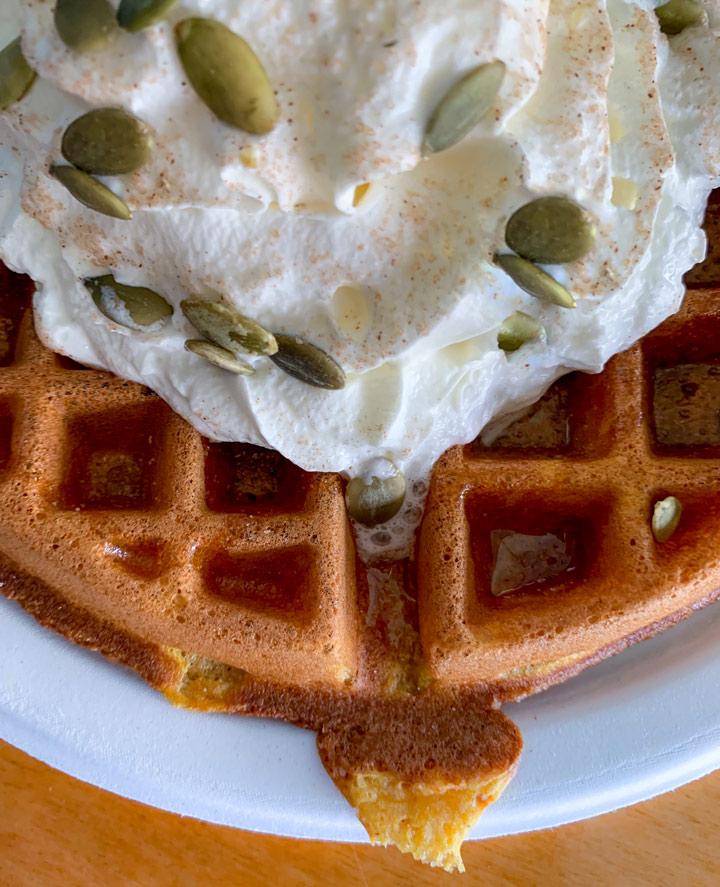 Enjoy Pumpkin Flavour Waffles at Krause Berry Farms