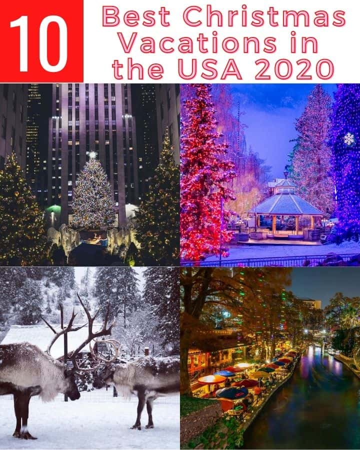 10 Best Christmas Vacations USA 2020