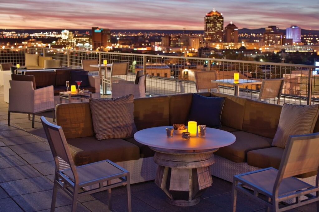 Apothecary Lounge's rooftop bar